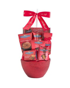 Houdini Ghirardelli Gift Basket Red - Unit  (Piece)