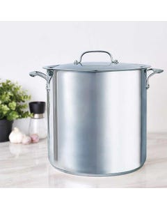 Bergner 16 Quart Stainless Steel STock Pot with Lid (Piece)